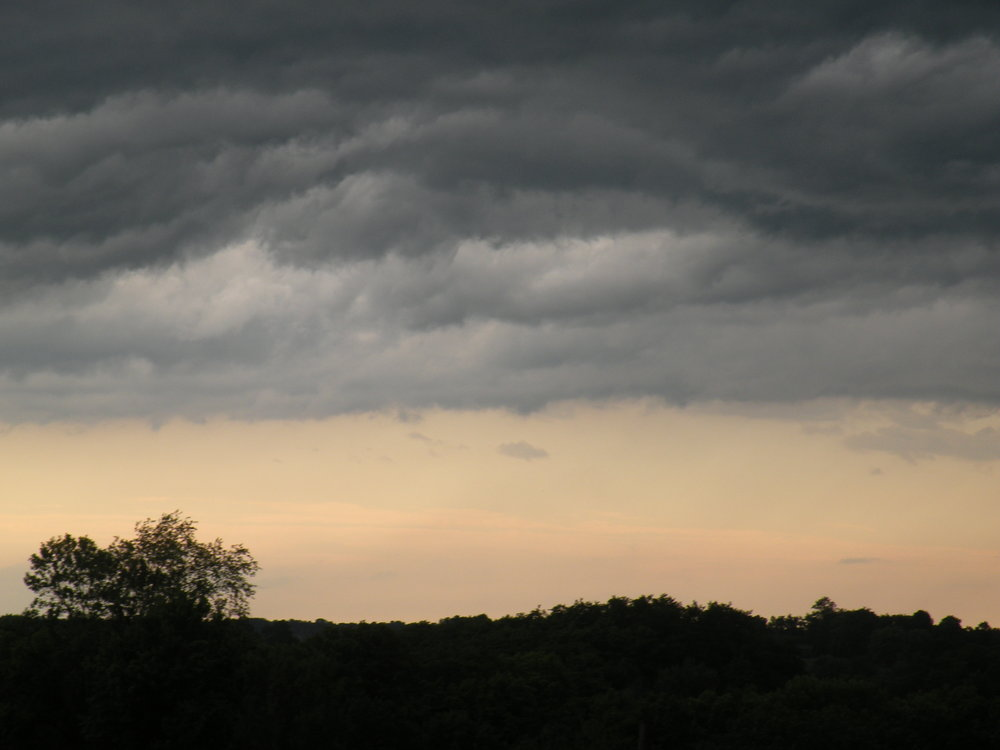 Frontal boundaries signaling storms. A Typical summer skyline for 2016. Photo by Rob McClure