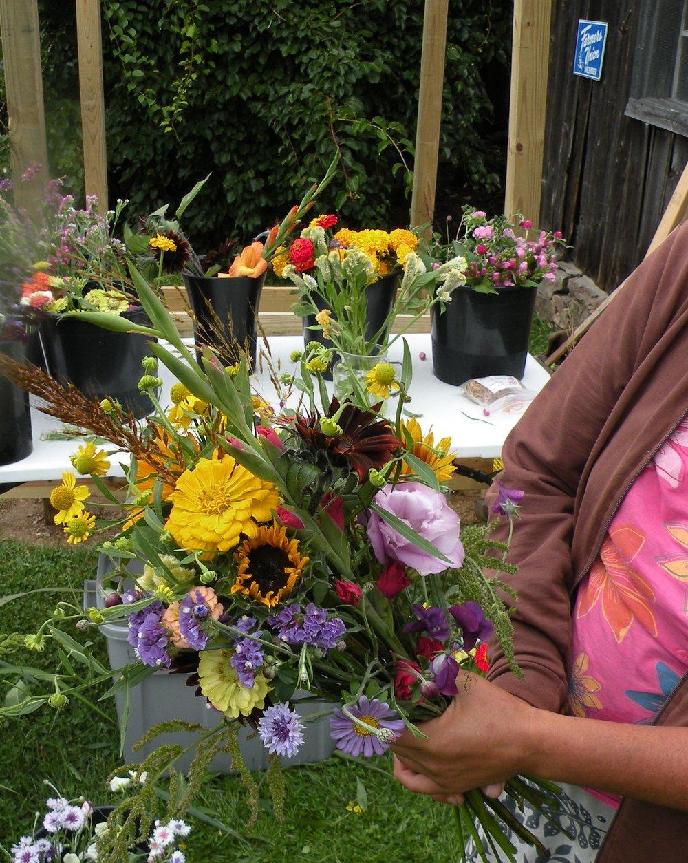 August flower palette, a peak season culmination of perennial and annual cuts. Photo by Rob McClure