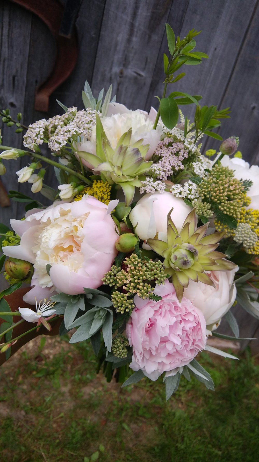 June 6 Bridal Bouquet created for our wedding clients. Photo by Rob McClure