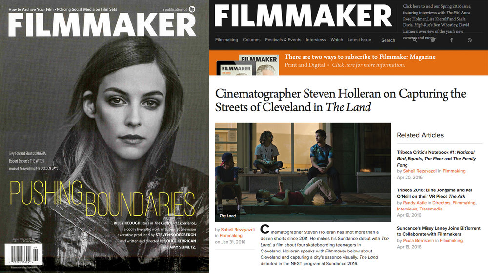 Filmmaker Magazine Winter Edition 2016