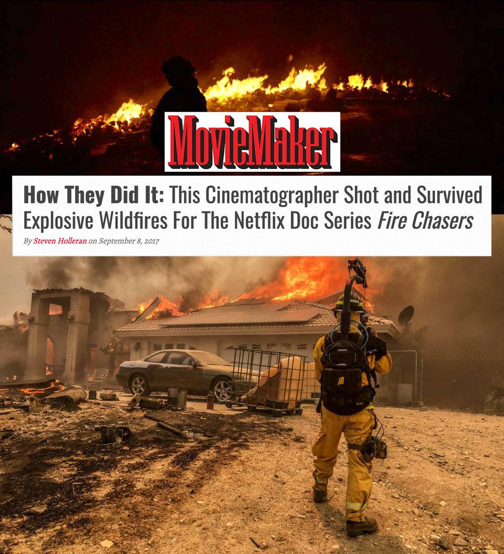 Moviemaker_Steven Holleran_Fire Chasers_Netflix