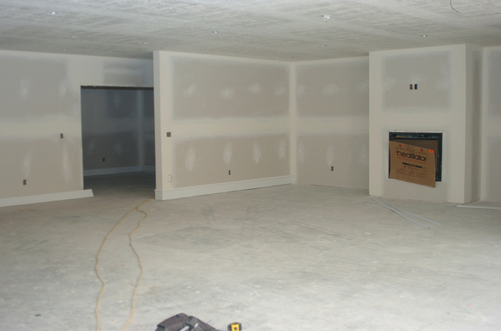 Sleepy Hollow Basement Recreation - Drywall