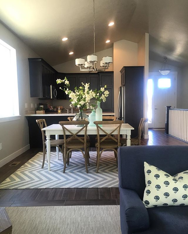 We sold our original Model Home at Bridlewood Court. We've moved our model to Unit #10, here's a little peak. This unit has darker cabinets, tile wood plank floors, and granite countertops. The Model is open on Saturday & Sunday's from 12-3 or by appointment. #bridlewoodcourt #utahgeneralcontractor #utahrealestate