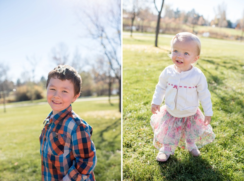 cute kids photographed on a beautiful fall day in Fort Collins, Colorado by Sonja K Photography.