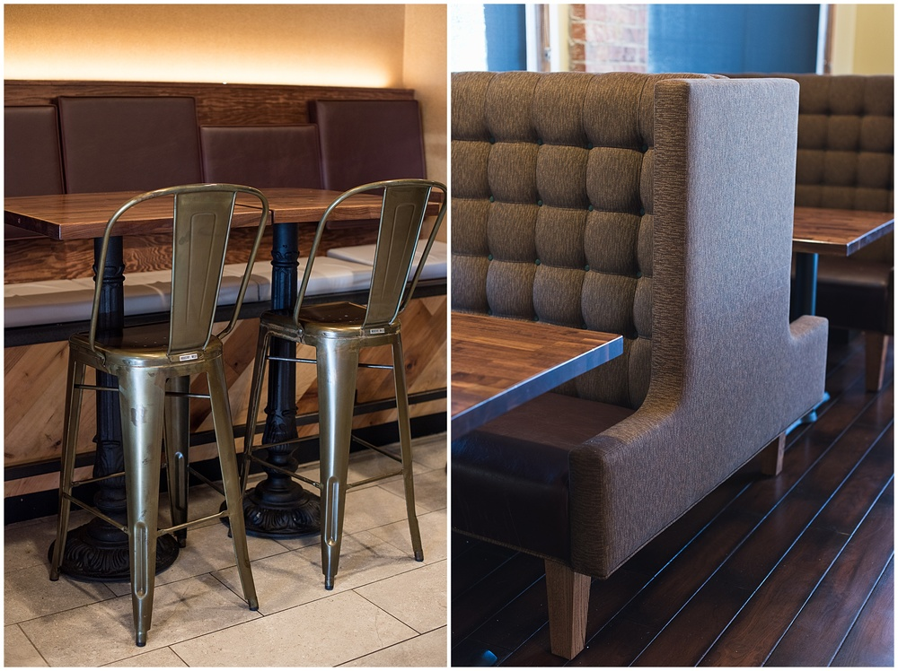 some beautiful interior detail photographs of new Qdoba stores by Sonja K Photography