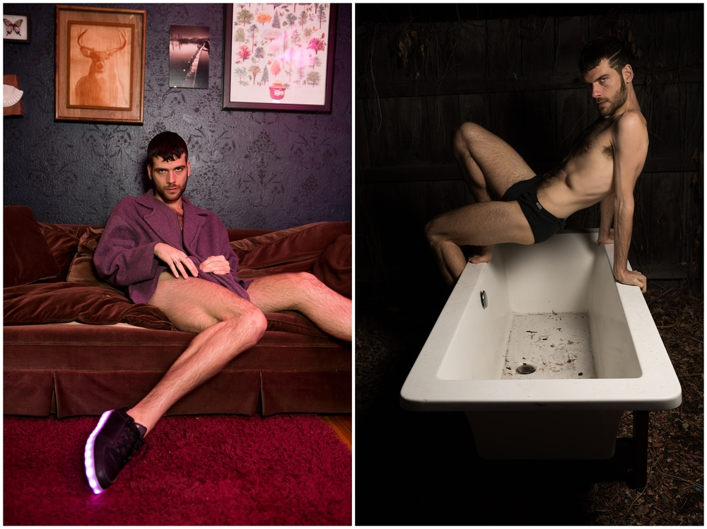 sultry dancer eyes caught in two beautiful portraits in an LGBTQ house in Denver, Colorado by Sonja Salzburg of Sonja K Photography.