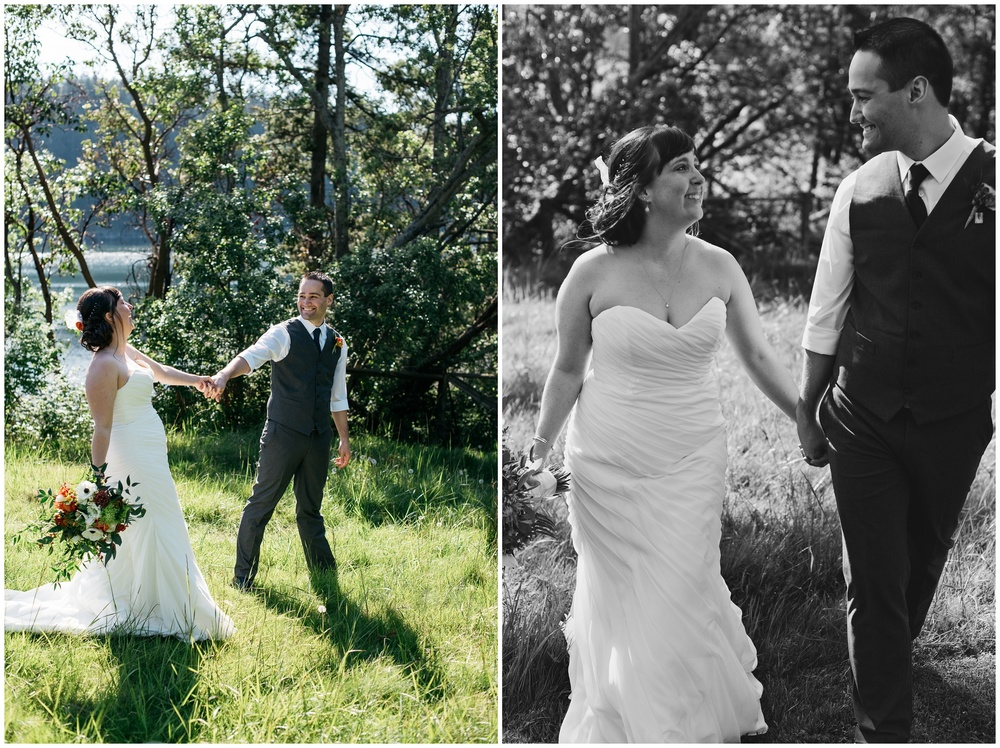 outdoor wedding photography of a cute couple in Bellingham, Washington by Sonja Salzburg of Sonja K Photography