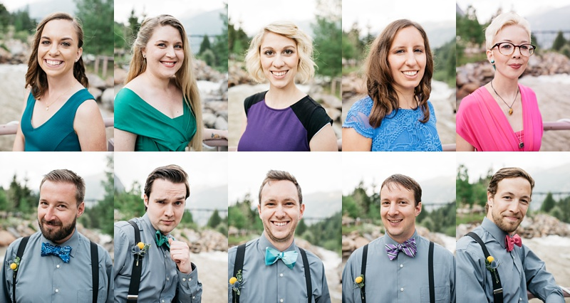 Head shots of Bridesmaids and Groomsmen. Wedding portrait photography by Sonja Salzburg of Sonja K Photography.