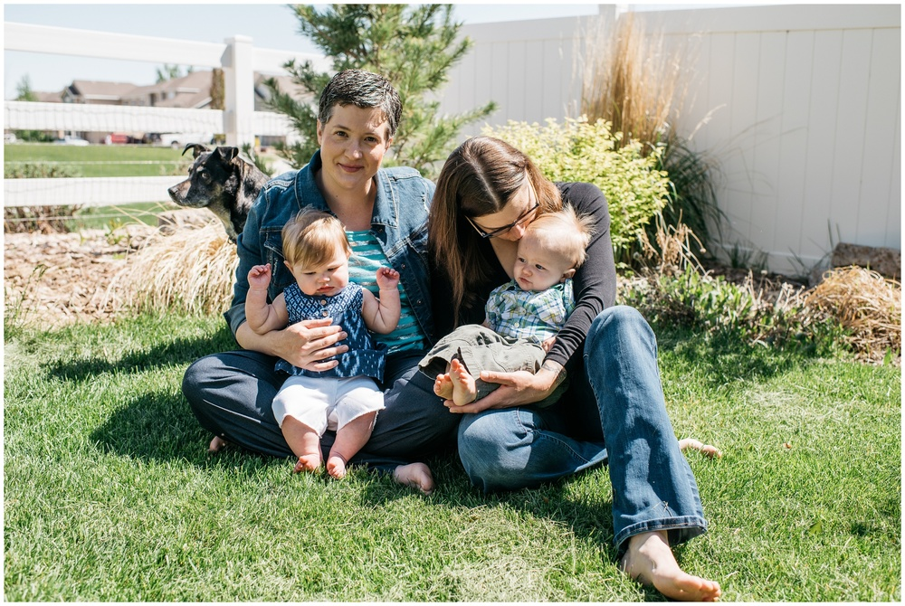 A happy family in the warm spring light. Film family photography by Sonja Salzburg of Sonja K Photography.