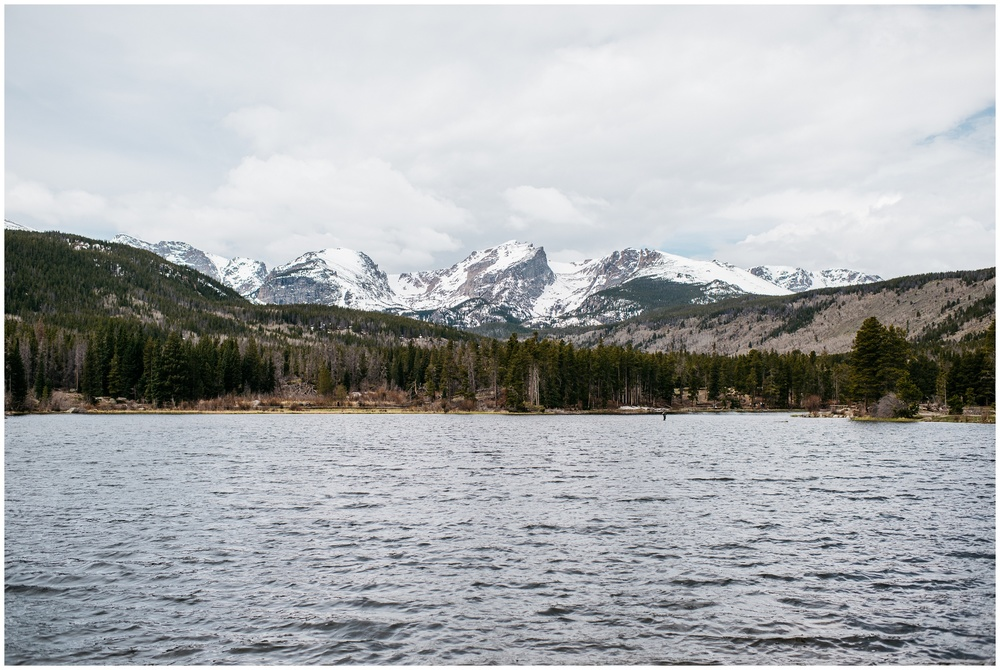 Sprague Lake in Rocky Mountain National Park. Photography by Sonja Salzburg of Sonja K Photography.