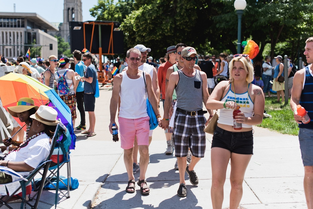 Pride celebration in Denver, Colorado. Photography by Sonja Salzburg of Sonja K Photography.