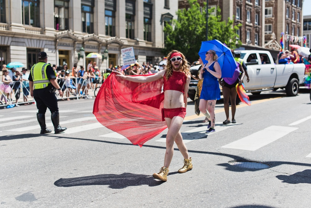 The pride parade in Denver, Colorado. Photography by Sonja Salzburg of Sonja K Photography.
