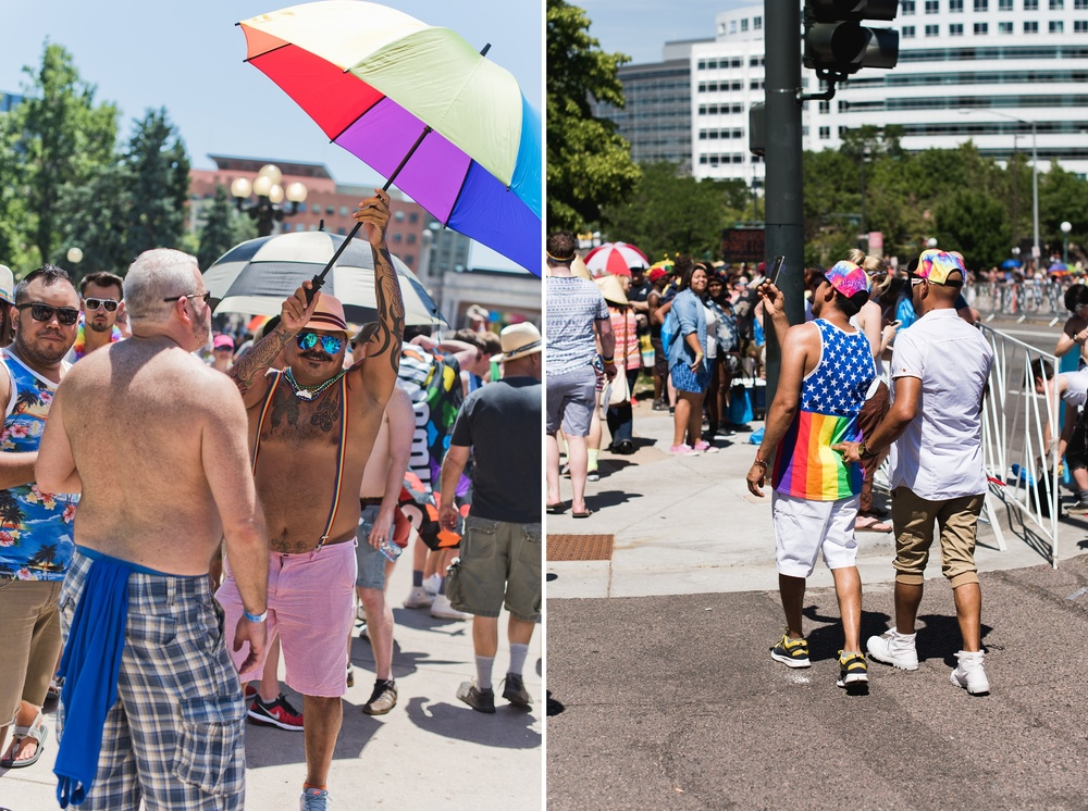 LGBTQ Pride parade in Denver, Colorado. Photography by Sonja Salzburg of Sonja K Photography.