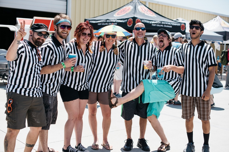 The referees of the 5th Annual Fort Collins Beer Week Brewers Olympics. Event photography by Sonja Salzburg of Sonja K Photography.