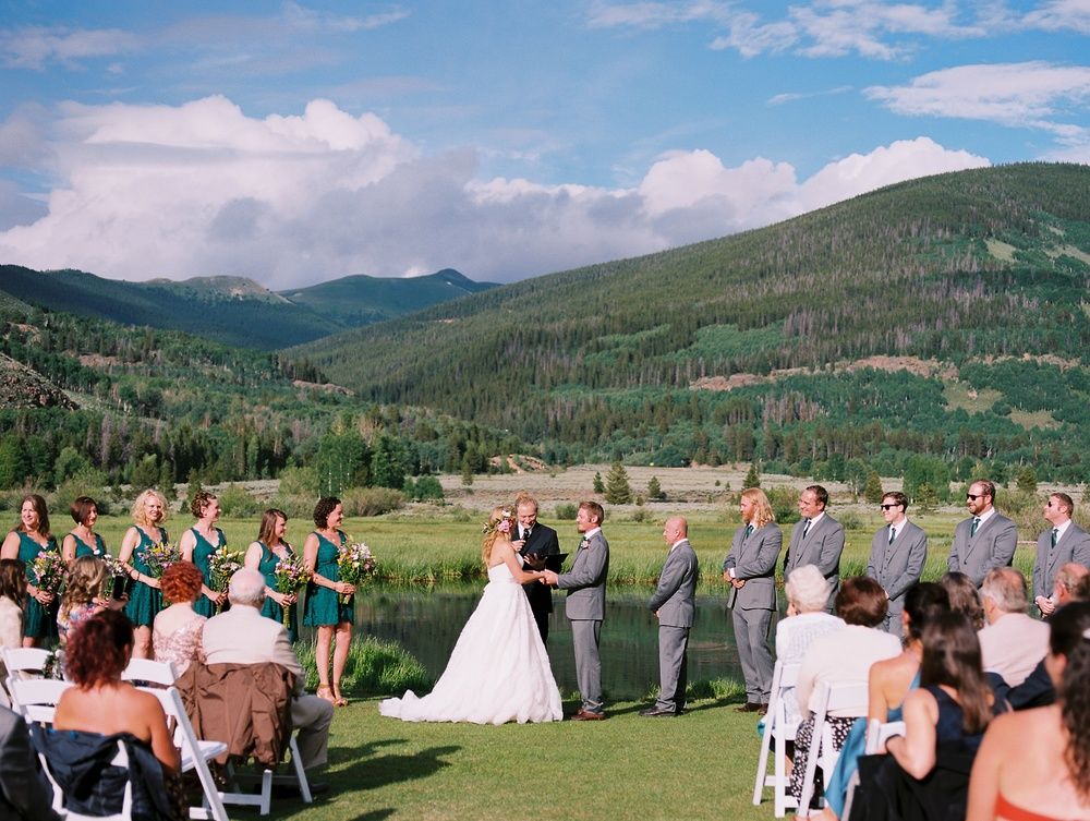 Karen and Doug get married at Camp Hale near Vail, Colorado. Wedding photography by Sonja Salzburg of Sonja K Photography.