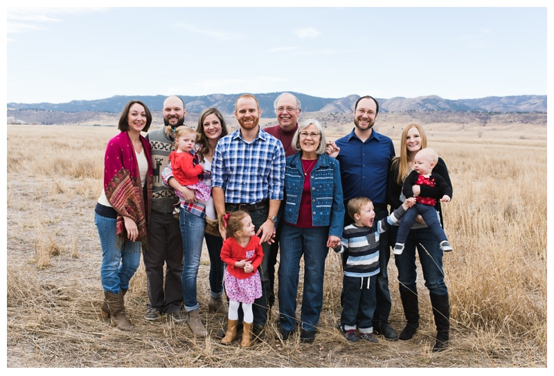 The Birmingham family at Reservoir Ridge Open Space in Fort Collins, Colorado. Family portraits by Sonja Salzburg of Sonja K Photography.