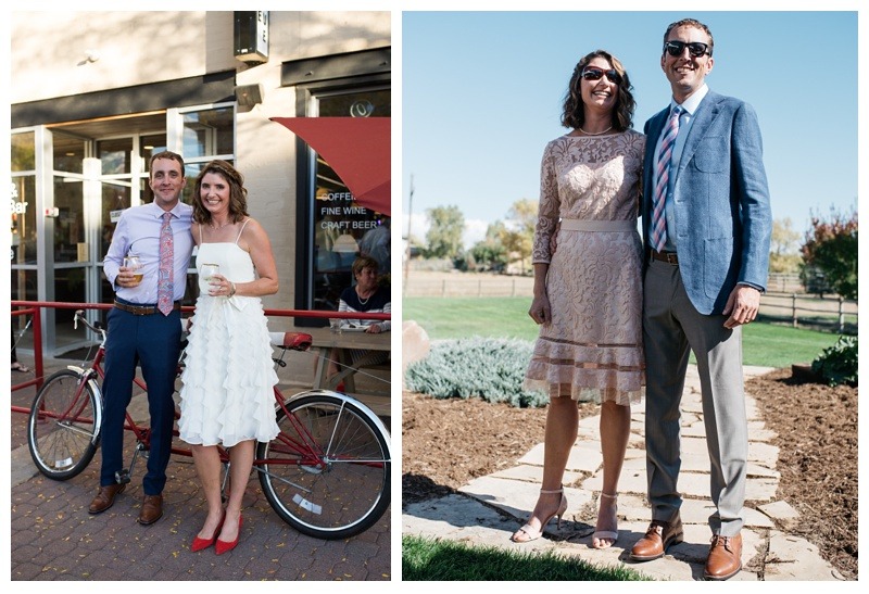 Amanda and Cameron on their wedding day in Fort Collins, Colorado. Wedding photography by Sonja Salzburg of Sonja K Photography.