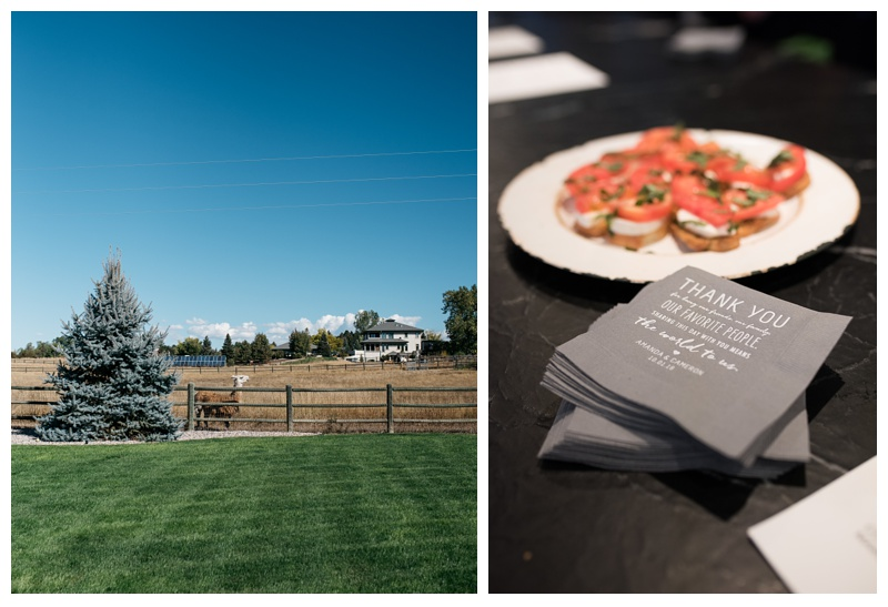 An outdoor wedding in Fort Collins, Colorado. Wedding detail photography by Sonja Salzburg of Sonja K Photography.