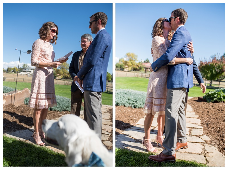 A wedding ceremony in Fort Collins, Colorado. Wedding photography by Sonja Salzburg of Sonja K Photography.