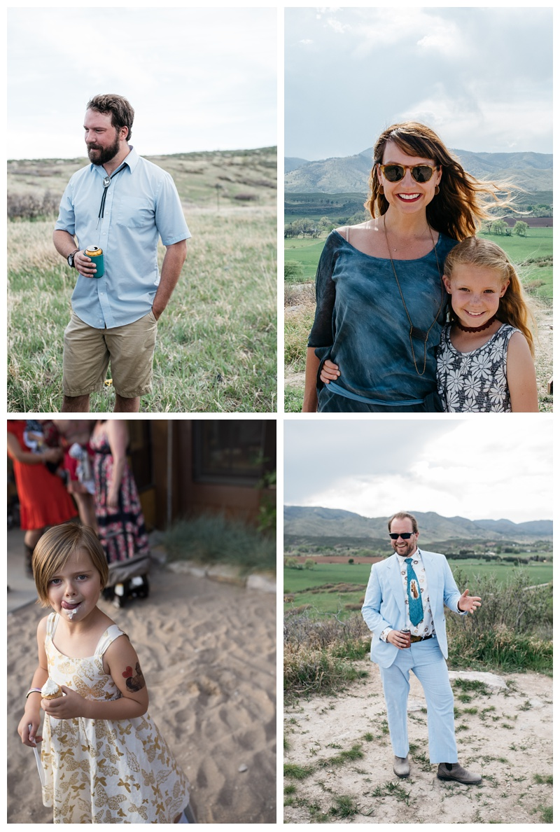 Guests of a wedding at Bingham Hill outside of Fort Collins. Colorado. Wedding photography by Sonja Salzburg of Sonja K Photography.