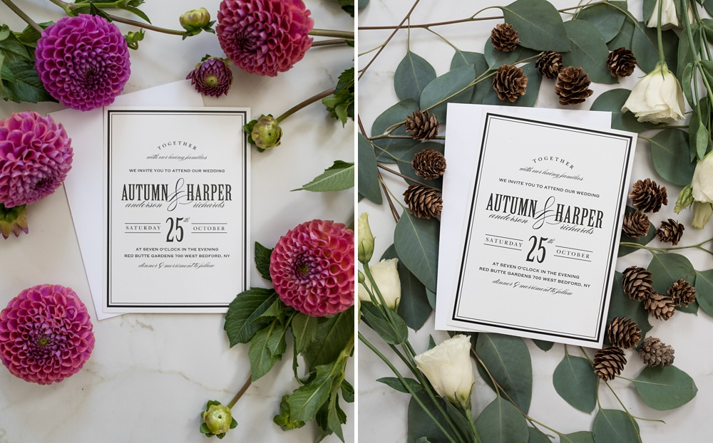 Beautiful custom printed wedding invitations by Basic Invite. Styling by Alyson Michelle of Things Like Stuff. Corporate product photography by Sonja Salzburg of Sonja K Photography.