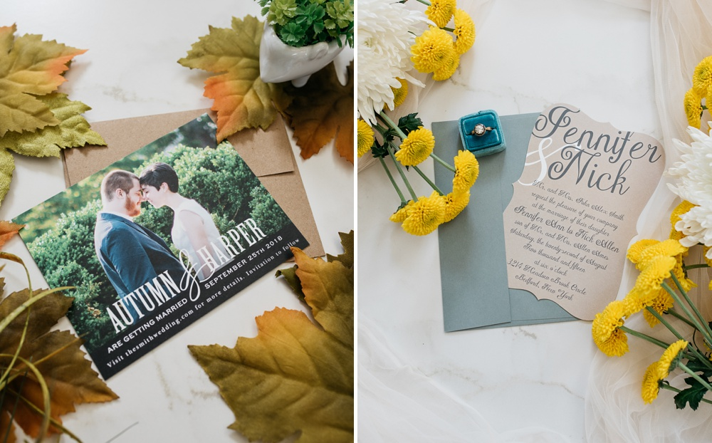Custom Save the Date and wedding invitations custom printed by Basic Invite. Styling by Alyson Michelle of Things Like Stuff. Corporate product photography by Sonja Salzburg of Sonja K Photography.