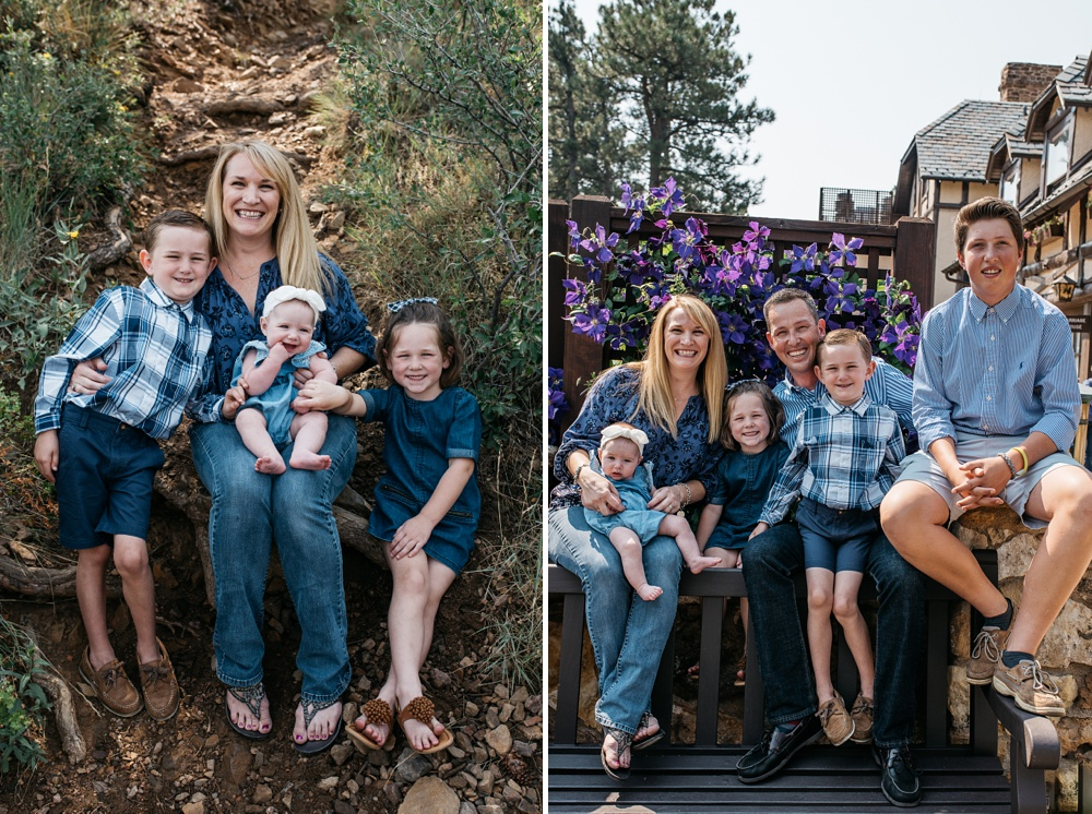 A happy family on a beautiful fall day outside of Denver, Colorado. Family portrait photography by Sonja Salzburg of Sonja K Photography.