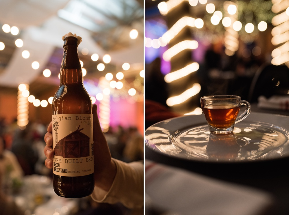 Beer by Soul Squared Brewing Company and tea by Happy Lucky's Teahouse at the Mad Farmer Dinner presented by Fortified Collaborations at Hope Farms in Fort Collins, Colorado. Event photography by Sonja Salzburg of Sonja K Photography.
