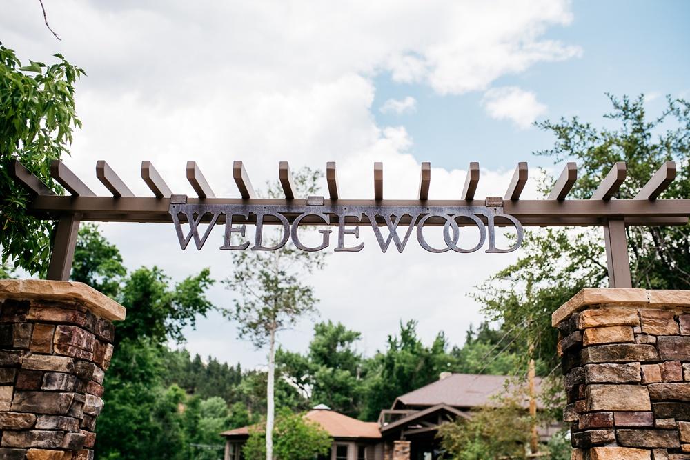 Wedgewood on Boulder Creek outside of Boulder, Colorado. Wedding photography by Sonja Salzburg of Sonja K Photography.
