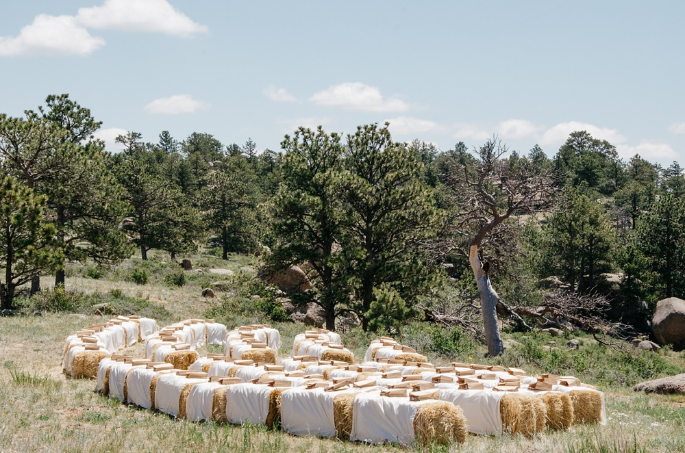 An outdoor wedding at Vedauwoo in southern Wyoming. Wedding photography by Sonja Salzburg of Sonja K Photography.