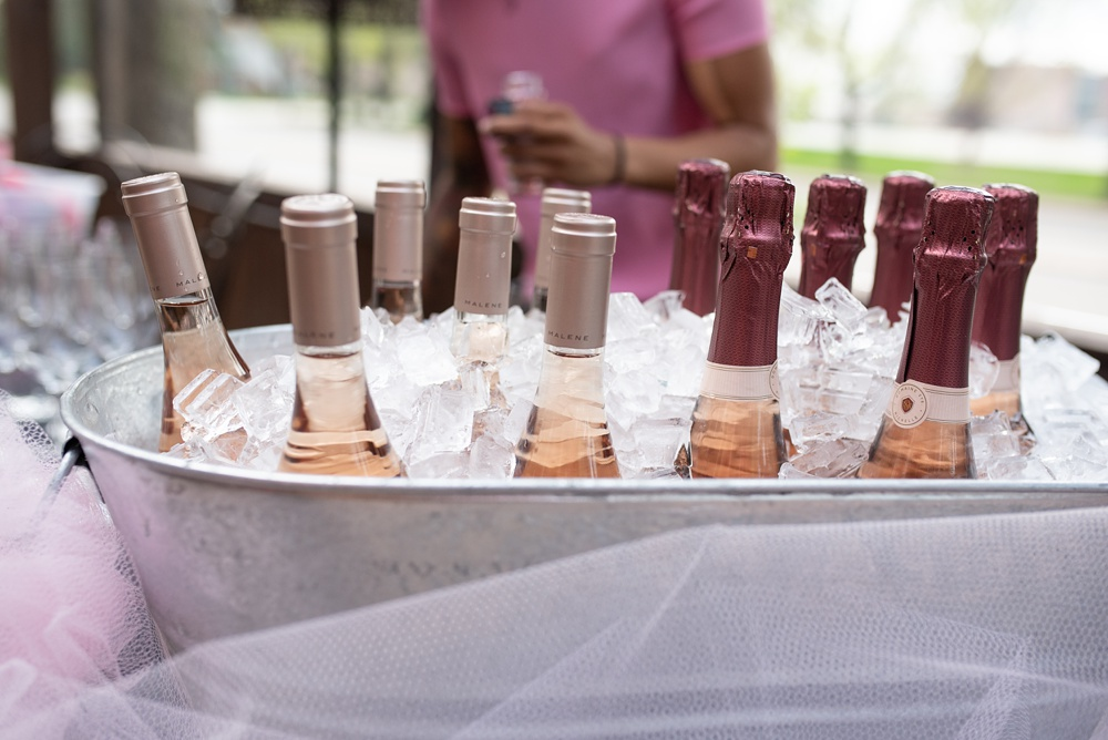 Rose wine on ice at the Fortified Collaborations Pinked. event at Cafe Vino in Fort Collins, Colorado. Event and food and beverage photography by Sonja Salzburg of Sonja K Photography.