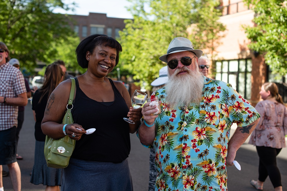 Some of the characters at the Fortified Collaborations Second Sunday Supper in Montezuma Fuller Alley in Fort Collins, Colorado. Event portrait and Food and Beverage Photography by Sonja Salzburg of Sonja K Photography.