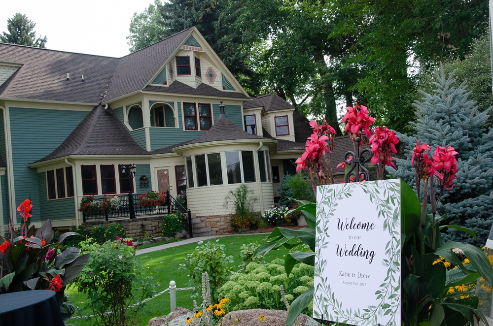 The Tapestry House in Laporte, Colorado prepares for a wedding. Wedding photography by Sonja Salzburg of Sonja K Photography.