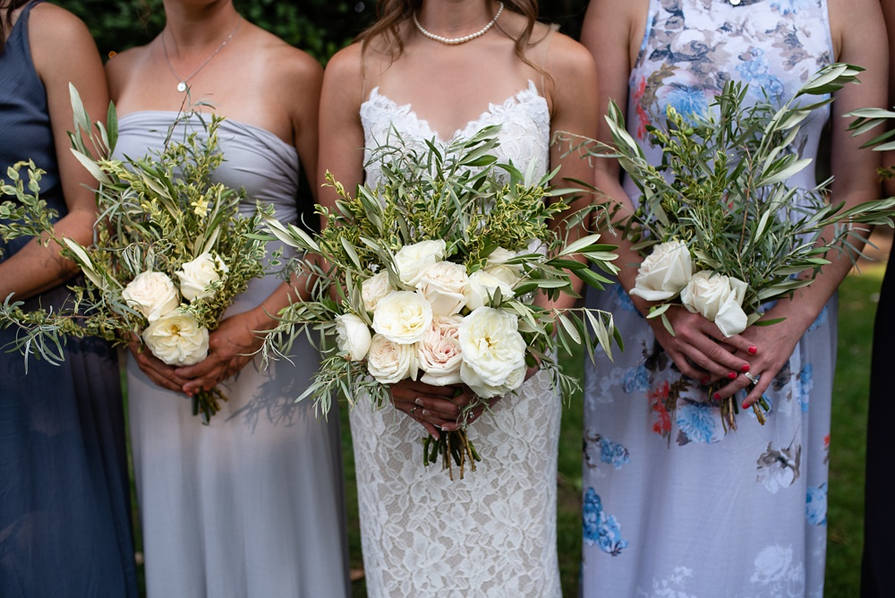 The florals from a wedding at the Tapestry House in Laporte, Colorado. Wedding photography by Sonja Salzburg of Sonja K Photography.