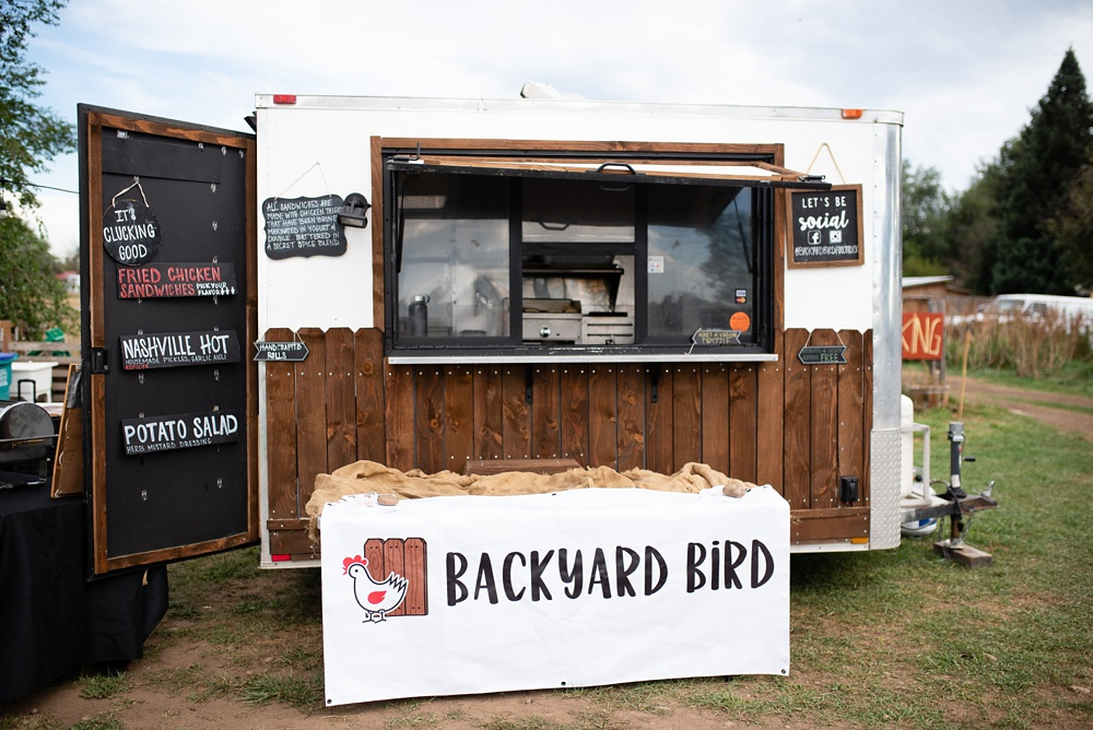 The Backyard Bird from Chef Matt Smith is ready to serve at the Fortified Collaborations 3 Forks Progressive Farm Dinner. Event and food and beverage photography by Sonja Salzburg of Sonja K Photography.