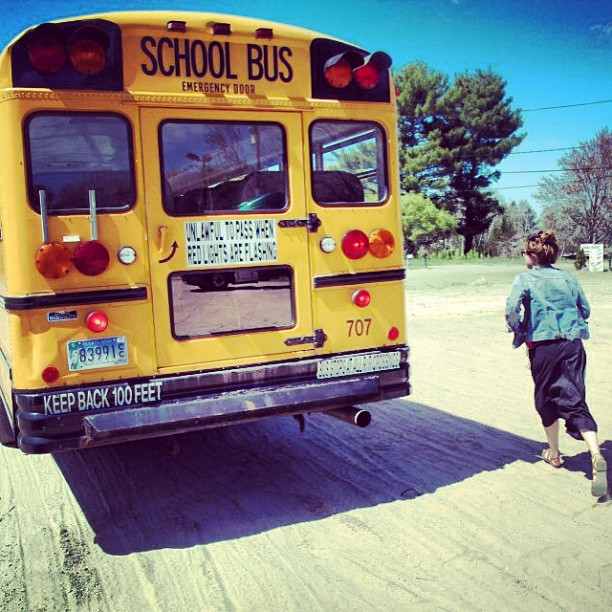 #tbt to that time Georgia was still a yellow school bus...