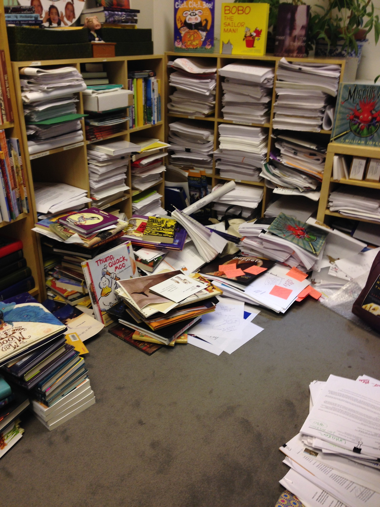 My editor's office. It's a wonder she even returns my emails.
