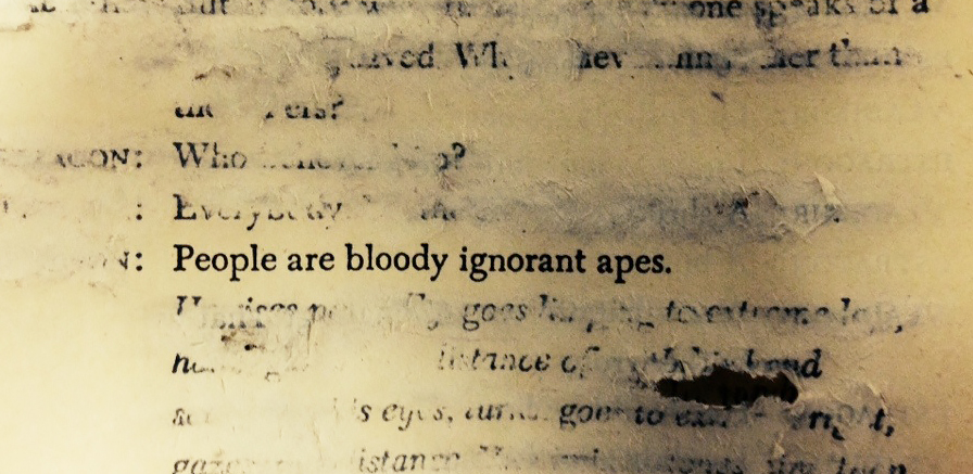 nevver :      People are bloody ignorant apes