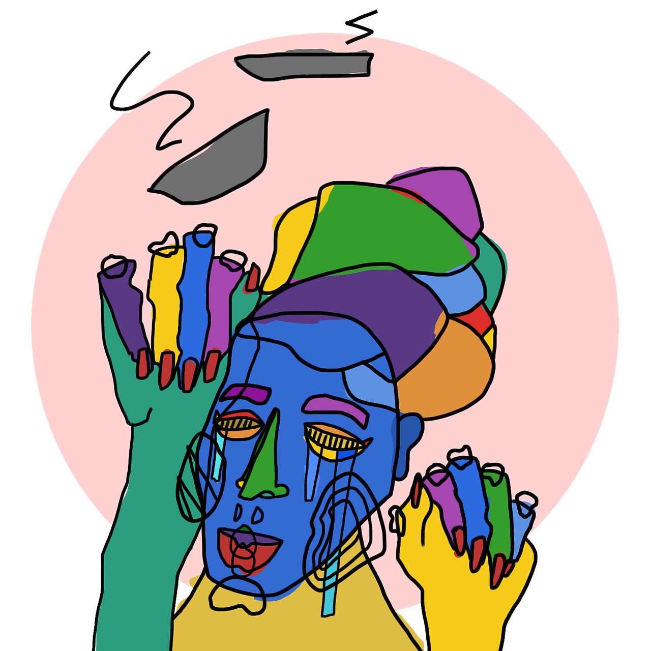 "tumblropenarts: ""Throw"" by Netanya Bomani(2014)"