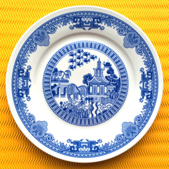 laughingsquid :      Calamityware, Porcelain Plates With Traditional Designs That Are Augmented With Monsters      Calamityware! Wow…never heard of it but it's amazing!