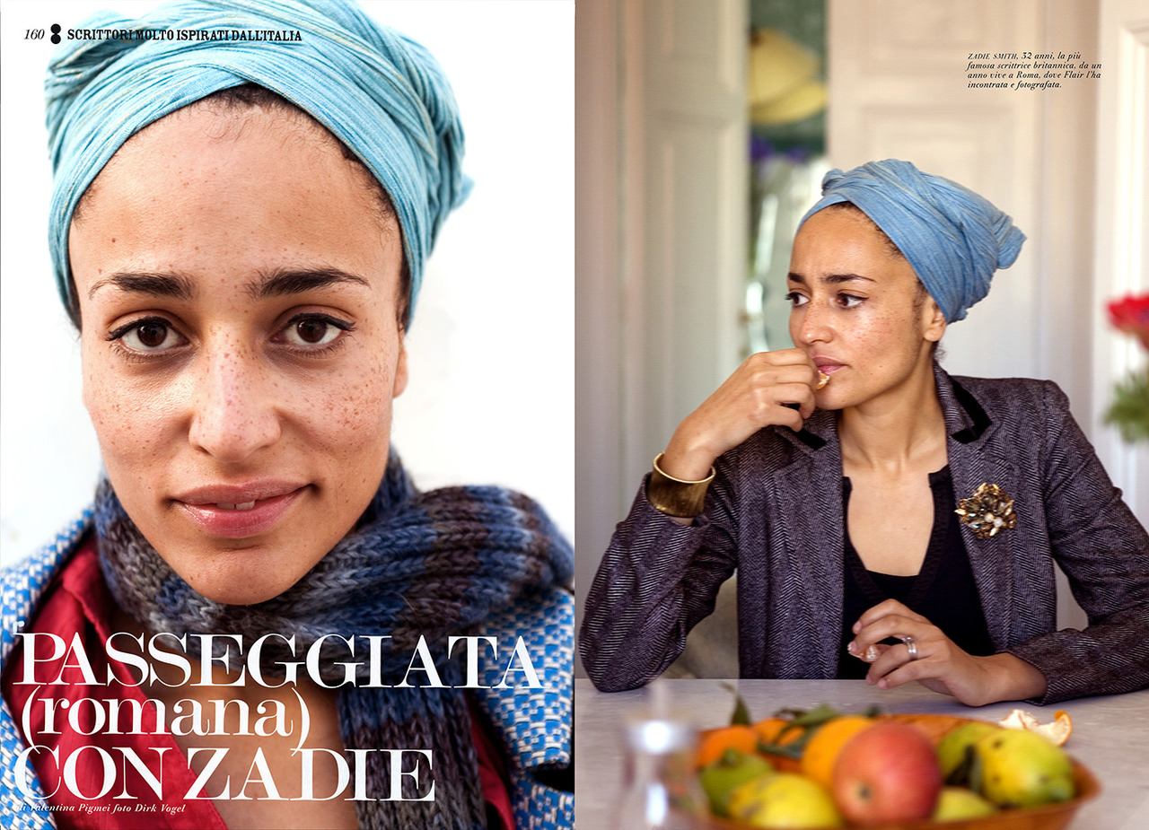 zerosara :      Zadie Smith    Photographed by Dirk Vogel        Royalty.