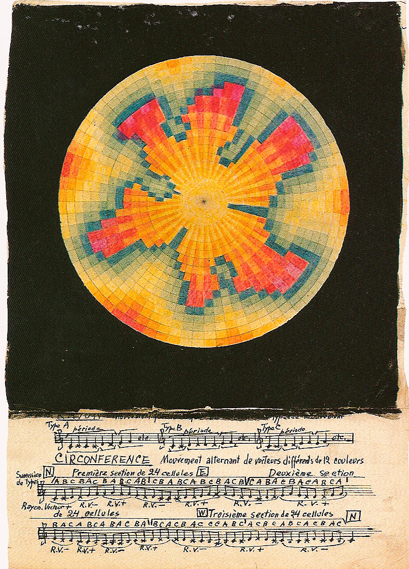 larkfall: Chromatic drawing, by a composer on the cusp of becoming a new obsession for me: Ivan Wyschnegradsky.