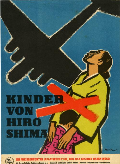 foreignmovieposters :      Children of Hiroshima  (1952). East German poster by Siegfried Ebert.