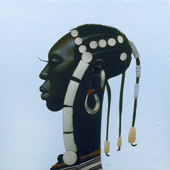 "emcu2: Fulani III 12"" x 12"" - oil By Kadir Nelson Whoa."
