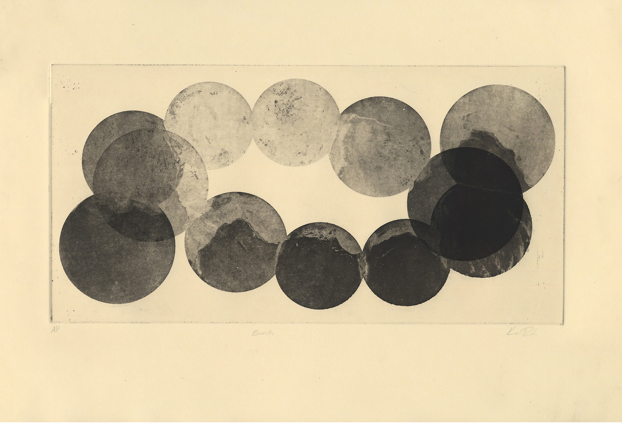 kameronrichie: Removing credit is rude. Kameron Richie Bends Aquatint 15x22 inches, 2013 Gorgeous. Like a crown of moons.
