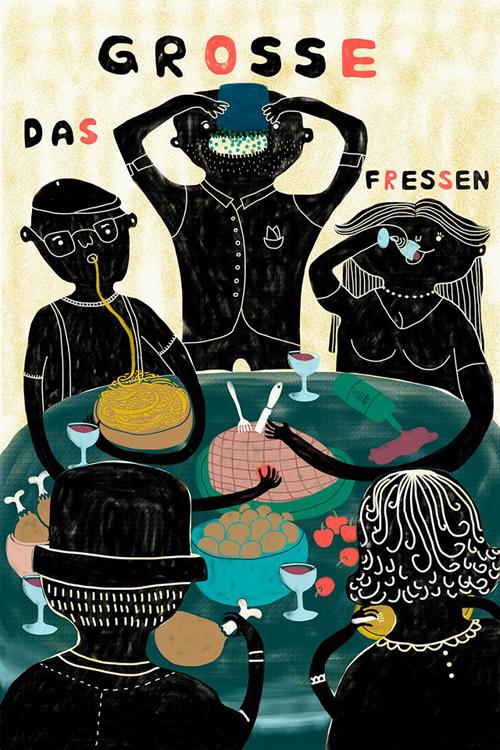 tumblropenarts :      Artist Name:  Vanessa Hasler    Tumblr:  http://vanessahasler.tumblr.com/    Das große Fressen / La grande bouffe