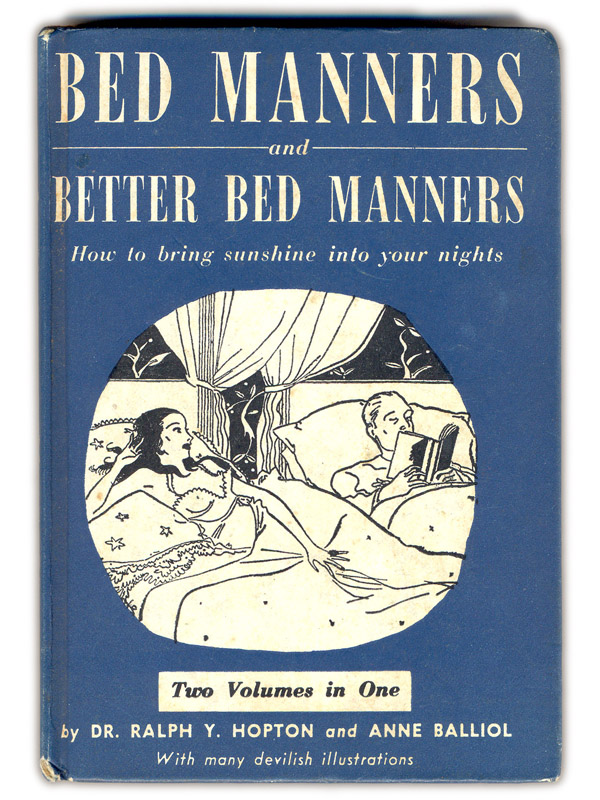 "thingsmagazine: Bed Manners With many devilish illustrations! Hahahaha aka, ""See Suzy hump."" Ridiculous."