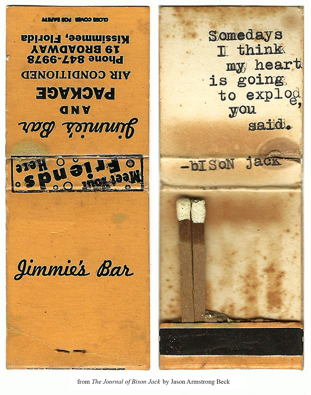 thejournalofbisonjack :     Jimmie's Bar / Flames     I swear this is my favorite tumblr.