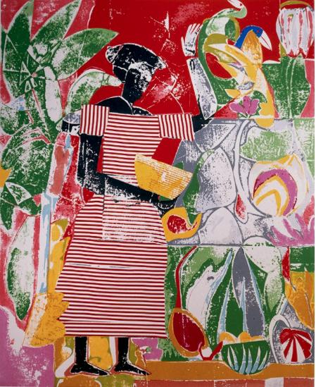 manufactoriel :      In the Garden (1974), by Romare Bearden      Royalty.