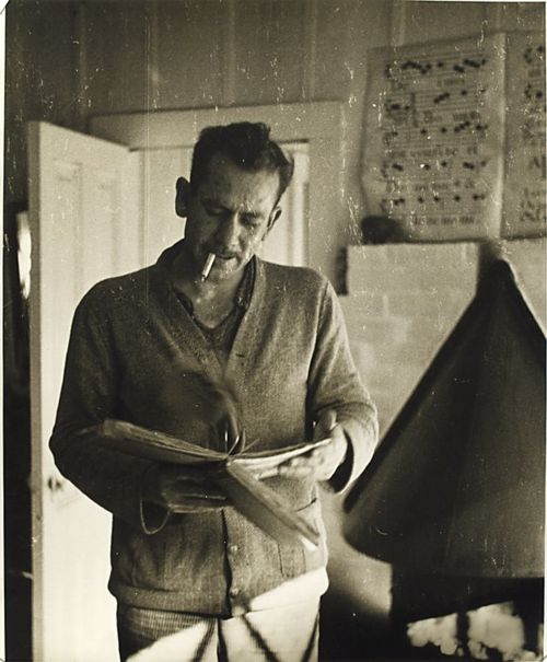 nypl :     Happy 112th Birthday to John Steinbeck, American writer and author of literature favorites like   The Grapes of Wrath  ,   East of Eden  , and   Of Mice and Men  !This photo of him comes from our  Berg Collection located in the  Stephen A. Schwarzman Building .   Step into one of our NYPL branches and  check out a book on or about John Steinbeck.      Royalty.